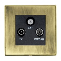 Hamilton Linea-Duo CFX Polished Brass/Antique Brass TV+FM+SAT (DAB Compatible) with Black Insert