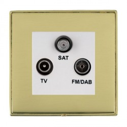 Hamilton Linea-Duo CFX Polished Brass/Polished Brass TV+FM+SAT (DAB Compatible) with White Insert