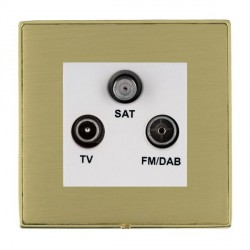 Hamilton Linea-Duo CFX Polished Brass/Satin Brass TV+FM+SAT (DAB Compatible) with White Insert