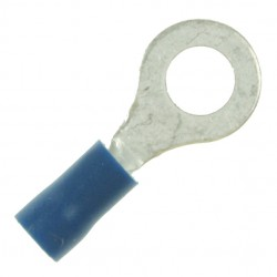 Blue 6mm Ring Crimp Terminal (Pack of 100)