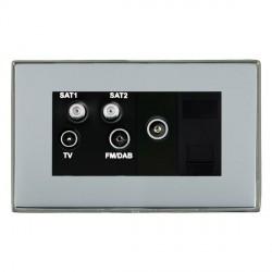 Hamilton Linea-Duo CFX Black Nickel/Bright Steel TV+FM+SAT+SAT (DAB Compatible)+TV+TCS with Black Insert