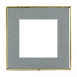 Hamilton Linea-Duo CFX Polished Brass/Satin Steel Single Plate c/w 2 EuroFix Apertures + Grid