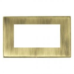 Hamilton Linea-Duo CFX Polished Brass/Antique Brass Double Plate c/w 4 EuroFix Apertures + Grid