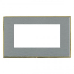 Hamilton Linea-Duo CFX Polished Brass/Satin Steel Double Plate c/w 4 EuroFix Apertures + Grid