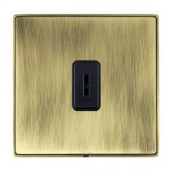 Hamilton Linea-Duo CFX Antique Brass/Antique Brass 1 Gang 2 Way Key Switch with Black Insert