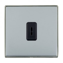 Hamilton Linea-Duo CFX Black Nickel/Bright Steel 1 Gang 2 Way Key Switch with Black Insert