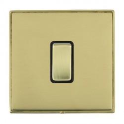 Hamilton Linea-Duo CFX Polished Brass/Polished Brass 1 Gang 10amp 2 Way Rocker with Black Insert