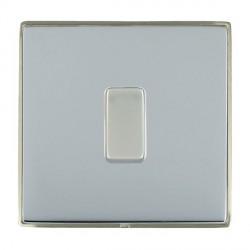 Hamilton Linea-Duo CFX Satin Nickel/Bright Steel 1 Gang 10amp 2 Way Rocker with White Insert