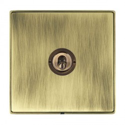 Hamilton Linea-Duo CFX Antique Brass/Antique Brass 1 Gang 2 Way Dolly with Antique Brass Insert