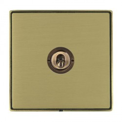 Hamilton Linea-Duo CFX Antique Brass/Satin Brass 1 Gang 2 Way Dolly with Antique Brass Insert