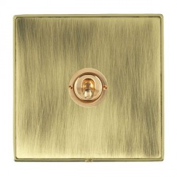 Hamilton Linea-Duo CFX Polished Brass/Antique Brass 1 Gang 2 Way Dolly with Polished Brass Insert