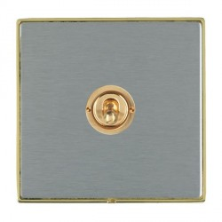 Hamilton Linea-Duo CFX Polished Brass/Satin Steel 1 Gang 2 Way Dolly with Polished Brass Insert
