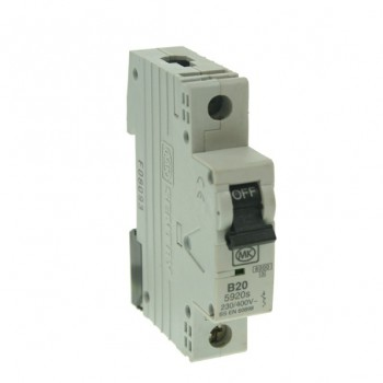 MK Electric Sentry 20A Type B Single Pole MCB