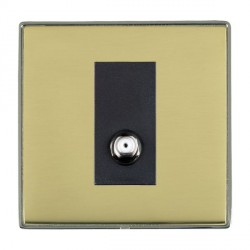 Hamilton Linea-Duo CFX Black Nickel/Polished Brass 1 Gang Non Isolated Digital Satellite with Black Insert