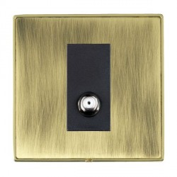Hamilton Linea-Duo CFX Polished Brass/Antique Brass 1 Gang Non Isolated Digital Satellite with Black Insert