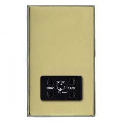 Hamilton Linea-Duo CFX Black Nickel/Polished Brass Shaver Socket Dual Voltage with Black Insert