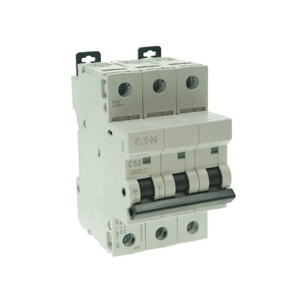 MEM 50 Amp C Type Three Phase MCB at UK Electrical Supplies.