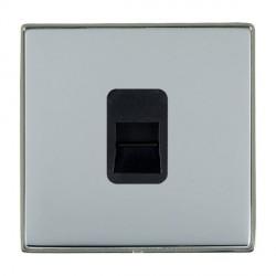 Hamilton Linea-Duo CFX Black Nickel/Bright Steel 1 Gang Telephone Master with Black Insert