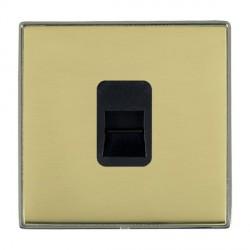 Hamilton Linea-Duo CFX Black Nickel/Polished Brass 1 Gang Telephone Master with Black Insert