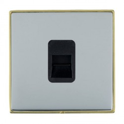 Hamilton Linea-Duo CFX Polished Brass/Bright Steel 1 Gang Telephone Master with Black Insert