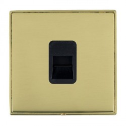 Hamilton Linea-Duo CFX Polished Brass/Polished Brass 1 Gang Telephone Master with Black Insert
