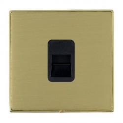 Hamilton Linea-Duo CFX Polished Brass/Satin Brass 1 Gang Telephone Master with Black Insert