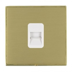 Hamilton Linea-Duo CFX Polished Brass/Satin Brass 1 Gang Telephone Master with White Insert