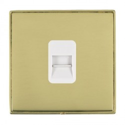 Hamilton Linea-Duo CFX Polished Brass/Polished Brass 1 Gang Telephone Slave with White Insert