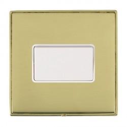 Hamilton Linea-Duo CFX Polished Brass/Polished Brass 1 Gang 10A Triple Pole Rocker with White Insert