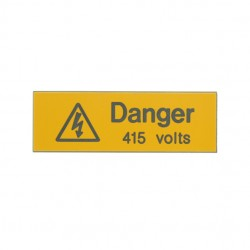 5 Rigid Engraved Danger 415 Volts Label