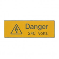 5 Rigid Engraved Danger 240 Volts Label