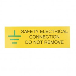 10 Self Adhesive Vinyl Safety Electrical Connection Stickers