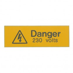 5 Rigid Engraved Danger 230 Volts Label
