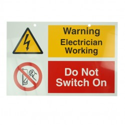 Self Adhesive Rigid PVC Do Not Switch On Label