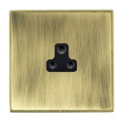 Hamilton Linea-Duo CFX Polished Brass/Antique Brass 1 Gang 2A Unswitched Socket with Black Insert