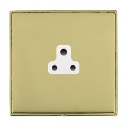 Hamilton Linea-Duo CFX Polished Brass/Polished Brass 1 Gang 2A Unswitched Socket with White Insert