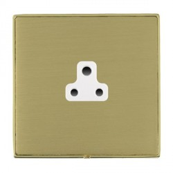 Hamilton Linea-Duo CFX Polished Brass/Satin Brass 1 Gang 2A Unswitched Socket with White Insert