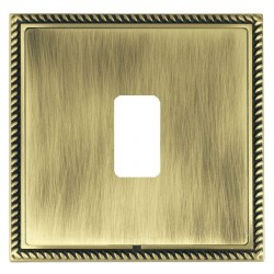 Hamilton Linea-Georgian CFX Antique Brass/Antique Brass 1 Gang Grid Fix Aperture Plate with Grid