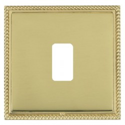 Hamilton Linea-Georgian CFX Polished Brass/Polished Brass 1 Gang Grid Fix Aperture Plate with Grid