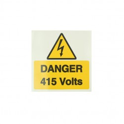 10 Self Adhesive Vinyl Danger 415 Volts Large Stickers