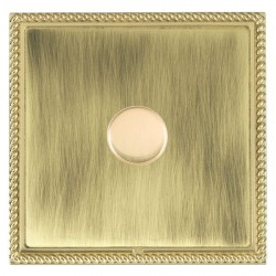 Hamilton Linea-Georgian CFX Polished Brass/Antique Brass Push On/Off Dimmer 1 Gang 2 way with Polished Br...