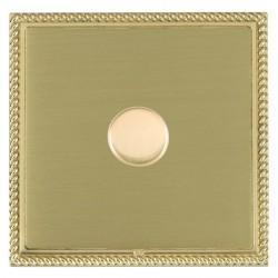 Hamilton Linea-Georgian CFX Polished Brass/Satin Brass Push On/Off Dimmer 1 Gang Multi-way Trailing Edge ...