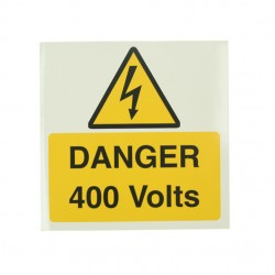 10 Self Adhesive Vinyl Danger 400 Volts Large Stickers