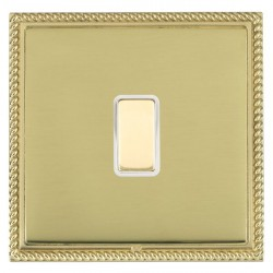 Hamilton Linea-Georgian CFX Polished Brass/Polished Brass 1 Gang Multi way Touch Slave Trailing Edge with...