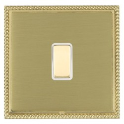 Hamilton Linea-Georgian CFX Polished Brass/Satin Brass 1 Gang Multi way Touch Slave Trailing Edge with Wh...