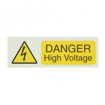 10 Self Adhesive Vinyl Danger High Voltage Small Stickers