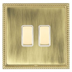 Hamilton Linea-Georgian CFX Polished Brass/Antique Brass 2 Gang Multi way Touch Master Trailing Edge with...