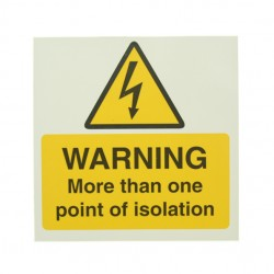 10 Self Adhesive Vinyl Warning More Than One Point Of Isolation Stickers
