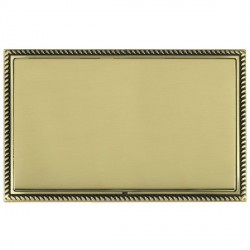 Hamilton Linea-Georgian CFX Antique Brass/Polished Brass Double Blank Plate