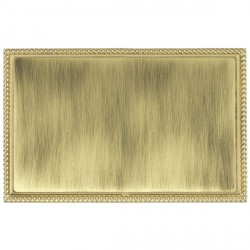 Hamilton Linea-Georgian CFX Polished Brass/Antique Brass Double Blank Plate